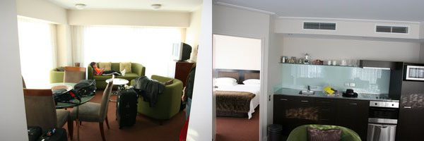 Bolton Hotel Living room & Kitchen